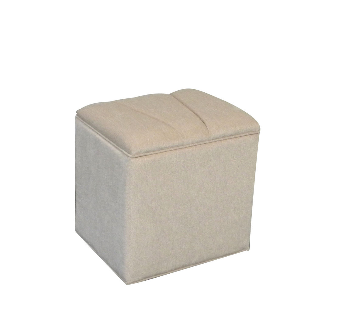 Luxurious Designer Florence Ottoman Storage Box linen storage chest in Beige
