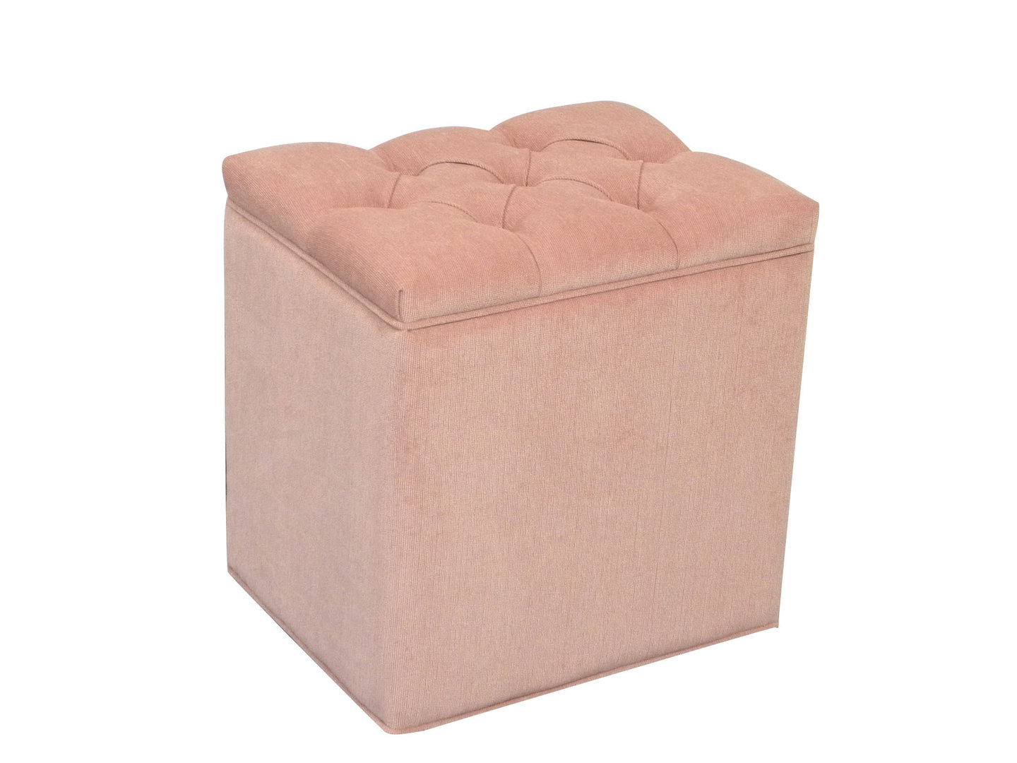 Ottoman Box Storage Box Blanket Bedding Box Pink Chenille