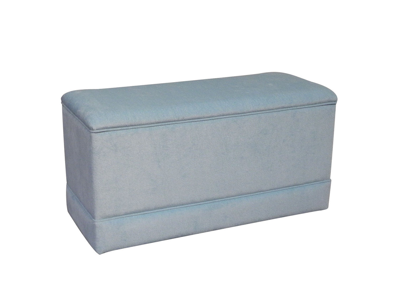 Toy Box Ottoman linen storage chest in Duck Egg Blue Linen Fabric