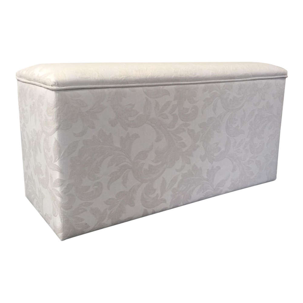 Swell Luxurious Designer Ottoman Storage Box Linen Storage Chest In Cream Damask Gmtry Best Dining Table And Chair Ideas Images Gmtryco